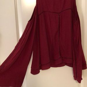 Lovers + Friends Tops - Lovers and friends maroon top